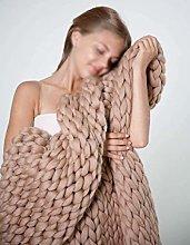XXXZZL Handmade Giant Soft Thick Woolen