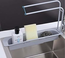 XXYWJF Telescopic Sink Storage Rack Adjustable