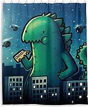 XXzhang Monster Dinosaur CuteShower Curtain with