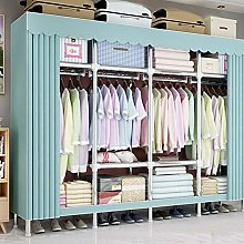XYBB Wardrobe Cloth Wardrobe Full Steel Frame