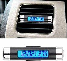 XYBW Portable 2 in 1 Car Digital LCD Clock amp;