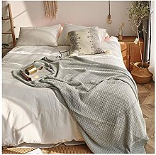 XYCSM All Cotton Knitted Nordic Sofa Blanket Cover
