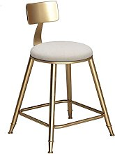 XYCSM Bar High Stools Barstools with Back Rest for