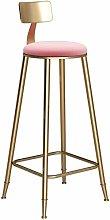 XYCSM Bar Stool Niture Round Golden Barstool Steel