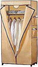 XYCSM Cloth Wardrobe Khaki Portable Oxford Cloth