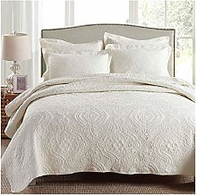 XYCSM Cotton Quilts 3Pcs Sets Bedspread on The Bed