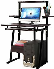 XYF Desk With Drawers And Shelves Workstations For