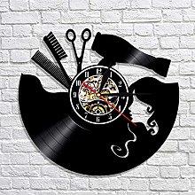 XYLLYT Barber vinyl record wall clock barber shop