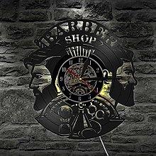 XYLLYT Barber Wall Clock Vinyl Record Wall Clock