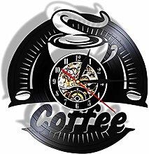 XYLLYT Coffee vinyl record wall clock modern