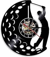 XYLLYT Golfer clock sports golf club vinyl record