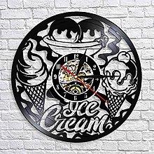 XYLLYT Ice cream shop commercial logo wall clock