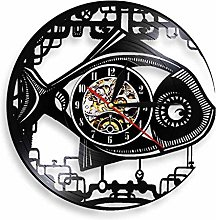XYLLYT Mechanical fish vinyl record wall clock