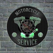 XYLLYT Motorcycle Motorcycle Repair Wall Clock
