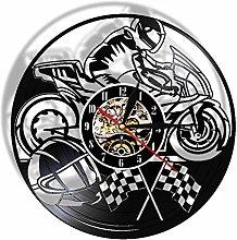 XYLLYT Motorcyclist Racer Wall Clock Motorcycle