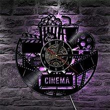 XYLLYT Movie Movie Wall Clock Movie Vinyl Record