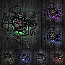XYLLYT Octopus wall clock fish black wall watch