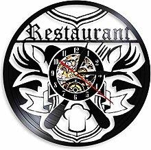 XYLLYT Restaurant wall clock vinyl record clock