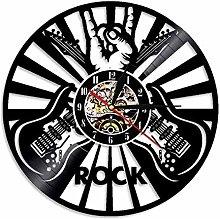 XYLLYT Rock music player wall clock vinyl record