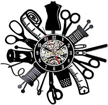 XYLLYT Sewing Retro Wall Clock Sewing Handmade Art