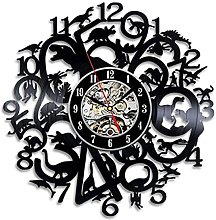 XYLLYT Vinyl record wall clock creative wall clock