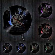 XYLLYT Wedding Anniversary Vinyl Record Wall Clock