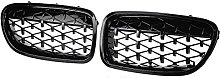 XYRDM Kidney Grill, Couple Car Front Bumper Chrome