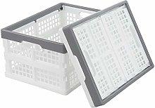Xyskin 16 Litre Plastic Folding Storage Crate,