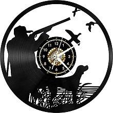 XYVXJ Hunting vinyl record wall clock handmade