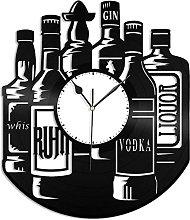 XYVXJ Wall clock alcohol vinyl record clock wall