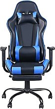 XYW Massage Gaming Chair with Footrest Reclining