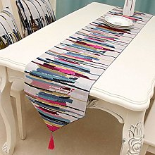 XYZDY Brief Style Striped Table Runner Cloth With