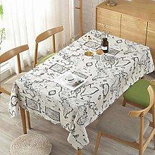 XYZG Table Cloth Table Cloths Map Printed