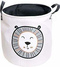 XYZMDJ Storage Baskets,Cotton Foldable Round Home