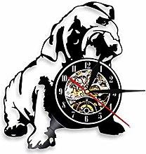 XZXMINGY 12 inches retro clock English Bulldog