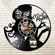 XZXMINGY Nail Master Beauty Salon Wall Clock Made
