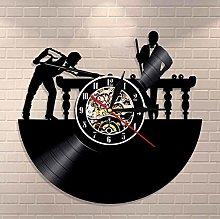 XZXMINGY Vinyl clock Billiards Player Wall Sign