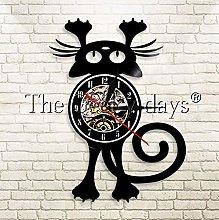 XZXMINGY Vinyl Clock Christmas Animals Vinyl