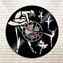 XZXMINGY Vinyl Clock Christmas Ballet Dancing