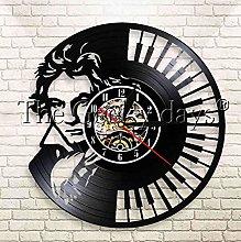 XZXMINGY Vinyl Clock Christmas Beethoven Portrait