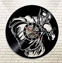 XZXMINGY Vinyl Clock Christmas Boxing Vinyl Record
