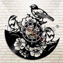 XZXMINGY Vinyl Clock Christmas Cockatoo Parrot