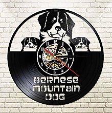 XZXMINGY Vinyl Clock Christmas Dog Vinyl Record