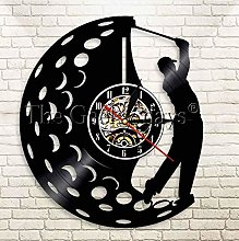 XZXMINGY Vinyl Clock Christmas Golfer Clock Sports