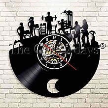 XZXMINGY Vinyl Clock Christmas Gym Room Fitness
