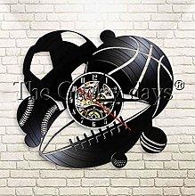 XZXMINGY Vinyl Clock Christmas Handmade Retro Wall