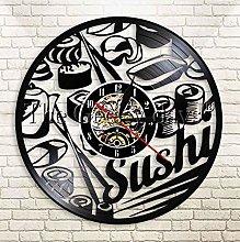 XZXMINGY Vinyl Clock Christmas Japanese Sashimi