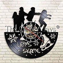 XZXMINGY Vinyl Clock Christmas Let's Skate