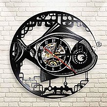XZXMINGY Vinyl Clock Christmas Mechanical Fish