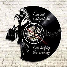XZXMINGY Vinyl Clock Christmas Shopaholic Lady